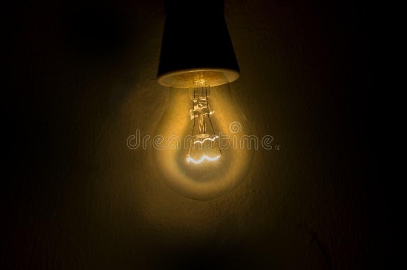 Dim light bulb stock image