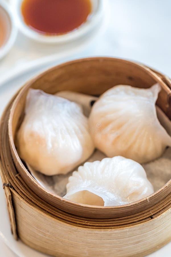Dim sum Hagao. Chinese dim sum Hagao - Steamed Chinese groumet cuisine royalty free stock image