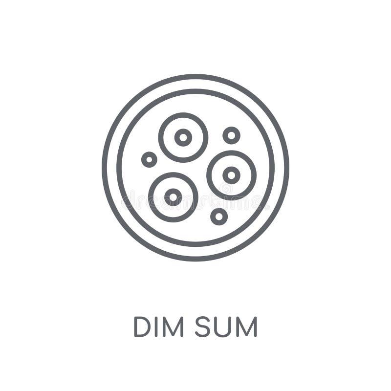 Dim sum liniowa ikona Nowożytny konturu dim sum logo pojęcie na whit ilustracja wektor
