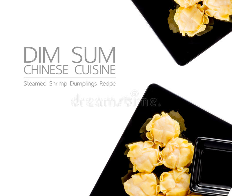 Dim Sum: Stramed shrimp Dumplings Recipe stock photos