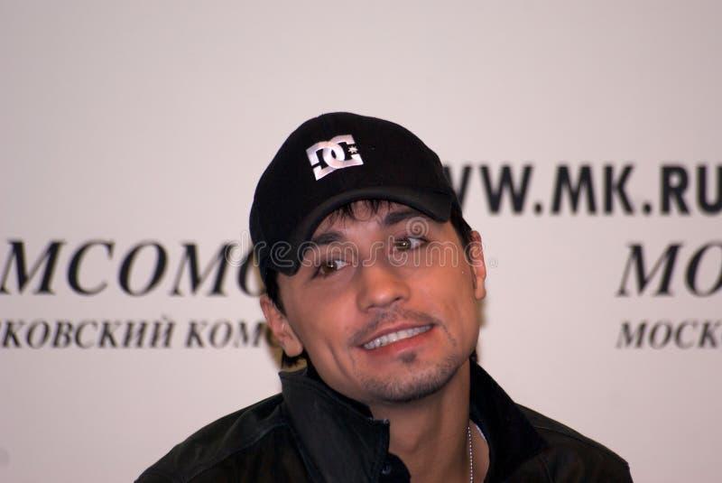 Dima Bilan Eurovision 2008 winner. Russian singer Dima Bilan Eurovision 2008 winner stock photo