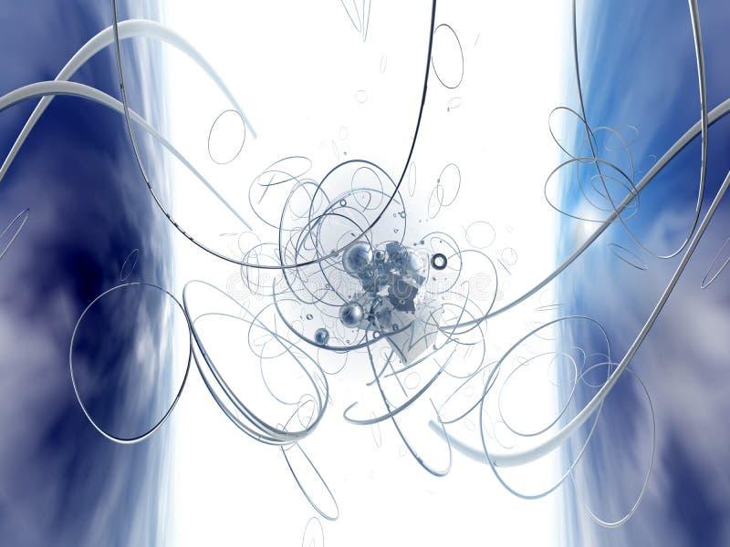 Dimensión cero - Azul ilustración del vector