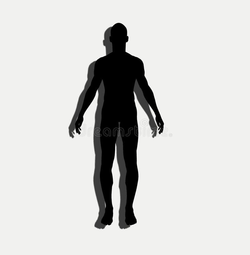 Dimensión de una variable 10 del hombre libre illustration