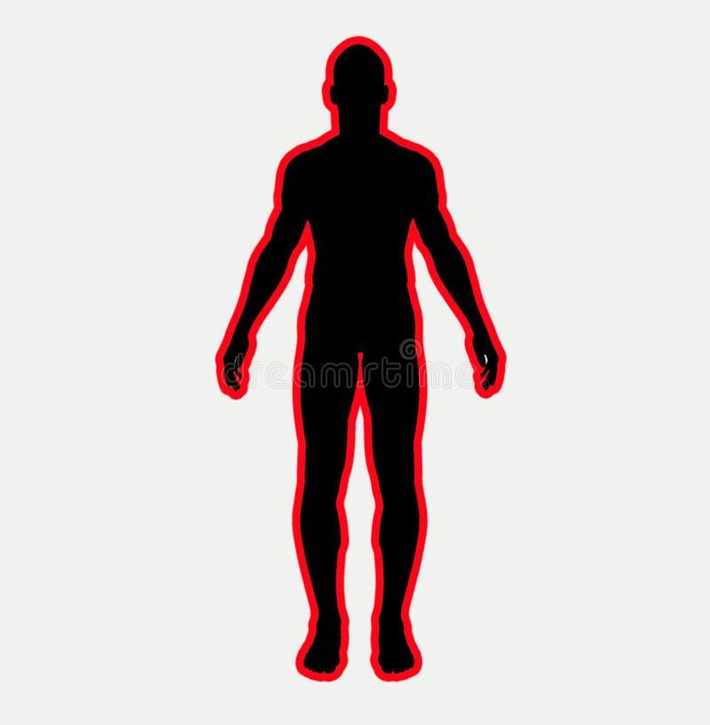 Dimensión de una variable 11 del hombre stock de ilustración