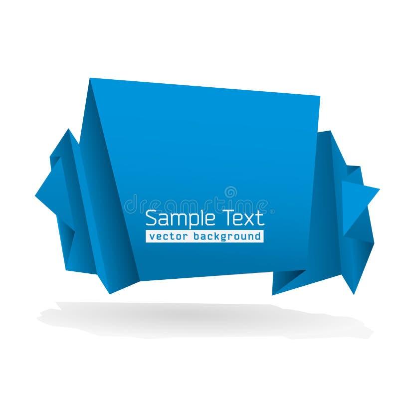 Dimensión de una variable abstracta de Origami foto de archivo