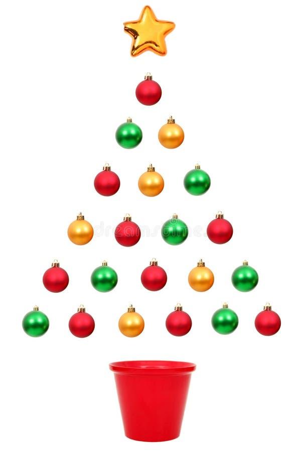Dimensión de una variable del árbol de navidad foto de archivo libre de regalías