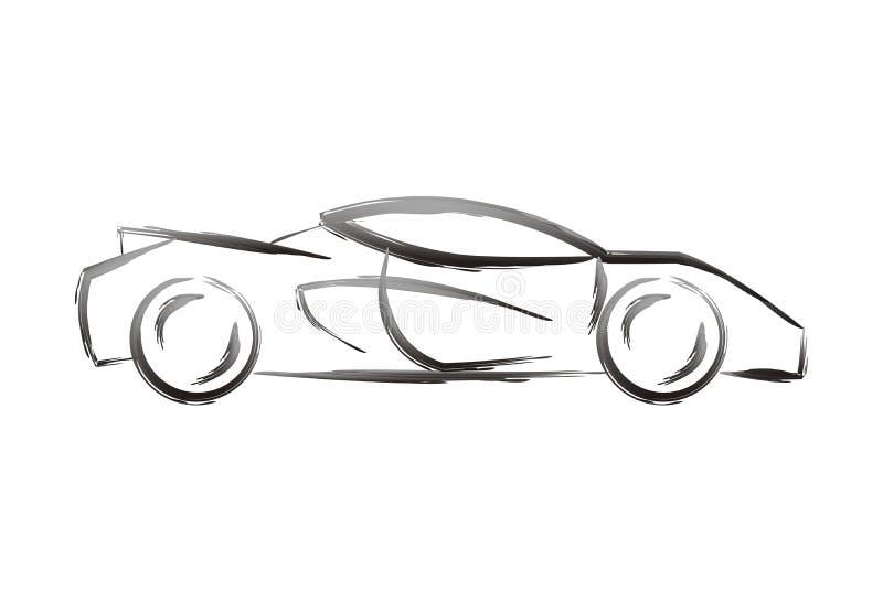 Dimensión de una variable del coche stock de ilustración