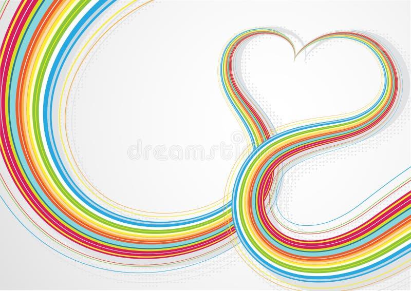 Dimensión de una variable del corazón stock de ilustración
