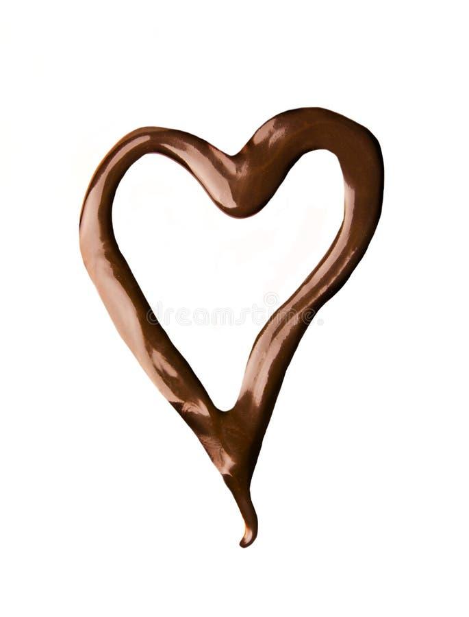 Dimensión de una variable del corazón hecha del chocolate fotos de archivo