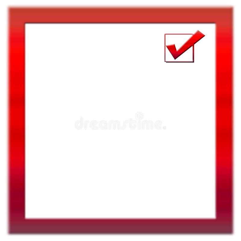 Dimensión de una variable del marco del cuadrado rojo imagen de archivo