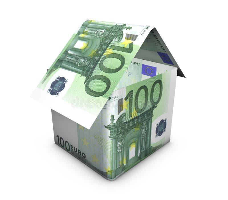 Dimensión De Una Variable Euro De La Casa Imagen de archivo libre de regalías
