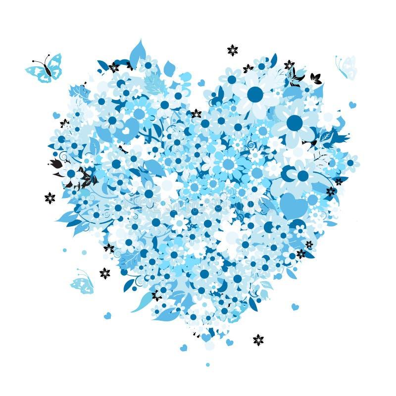 Dimensión de una variable floral del corazón para su diseño libre illustration