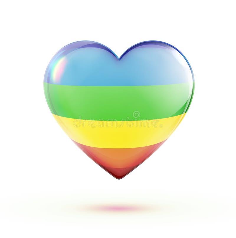 Dimensión De Una Variable Multicolora Del Corazón Imagenes de archivo