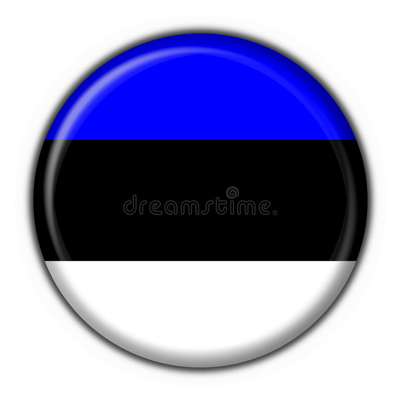 Dimensión de una variable redonda del indicador del botón de Estonia libre illustration