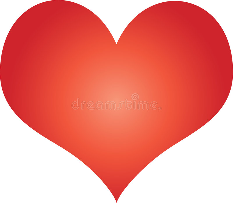 Dimensión de una variable roja del corazón libre illustration