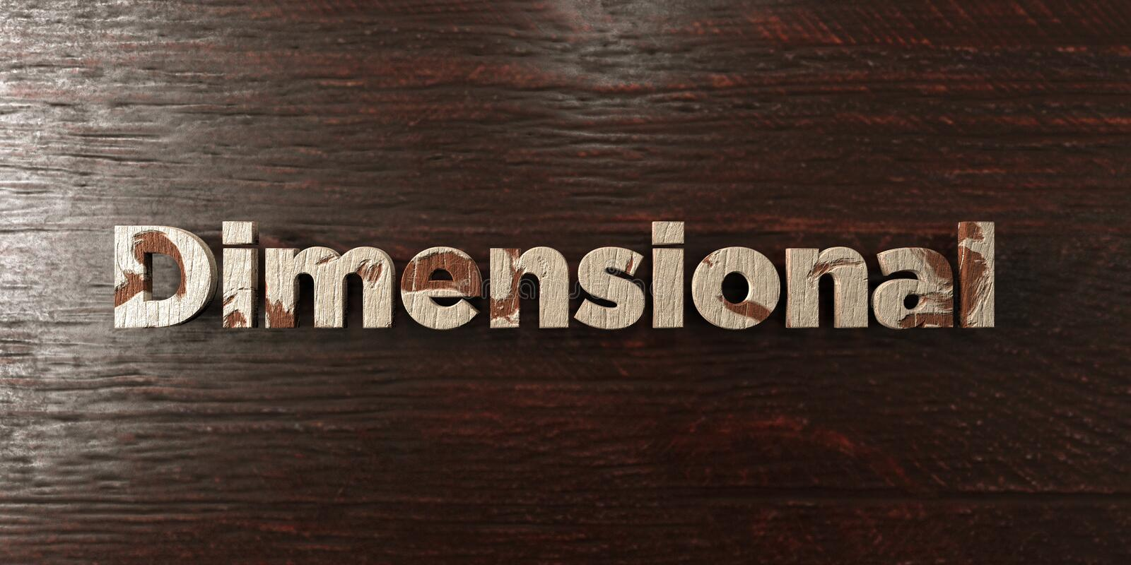 Dimensional - grungy wooden headline on Maple - 3D rendered royalty free stock image. This image can be used for an online website banner ad or a print stock illustration