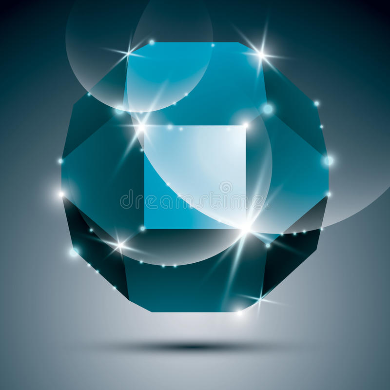 Dimensional turkusowy iskrzasty okrąg Wektor olśniewa abstrakt ilustracji
