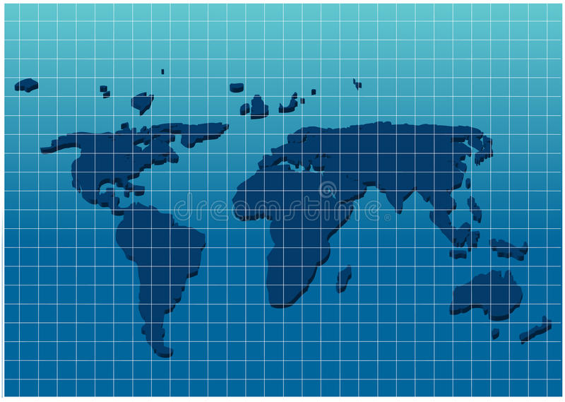 Dimensional world map on grid paper stock vector illustration of download dimensional world map on grid paper stock vector illustration of globe geography gumiabroncs