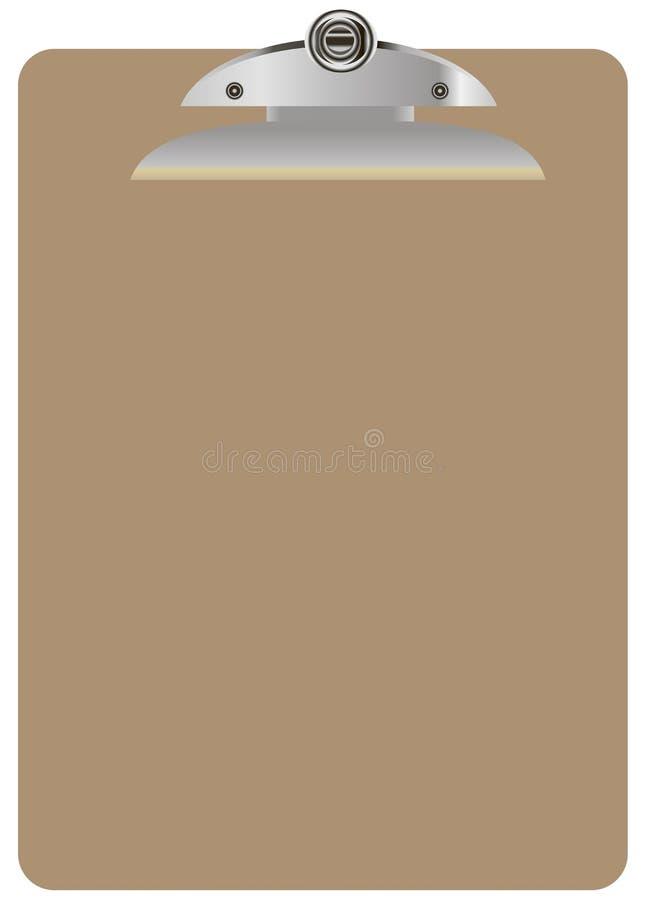 Dimensione della lettera della lavagna per appunti illustrazione di stock