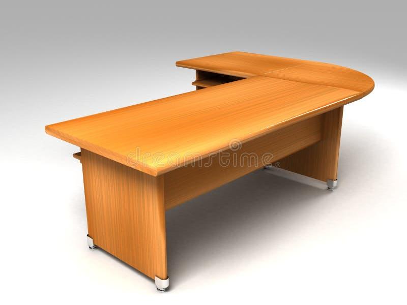 dimensionellt kontor tre för skrivbord royaltyfri illustrationer