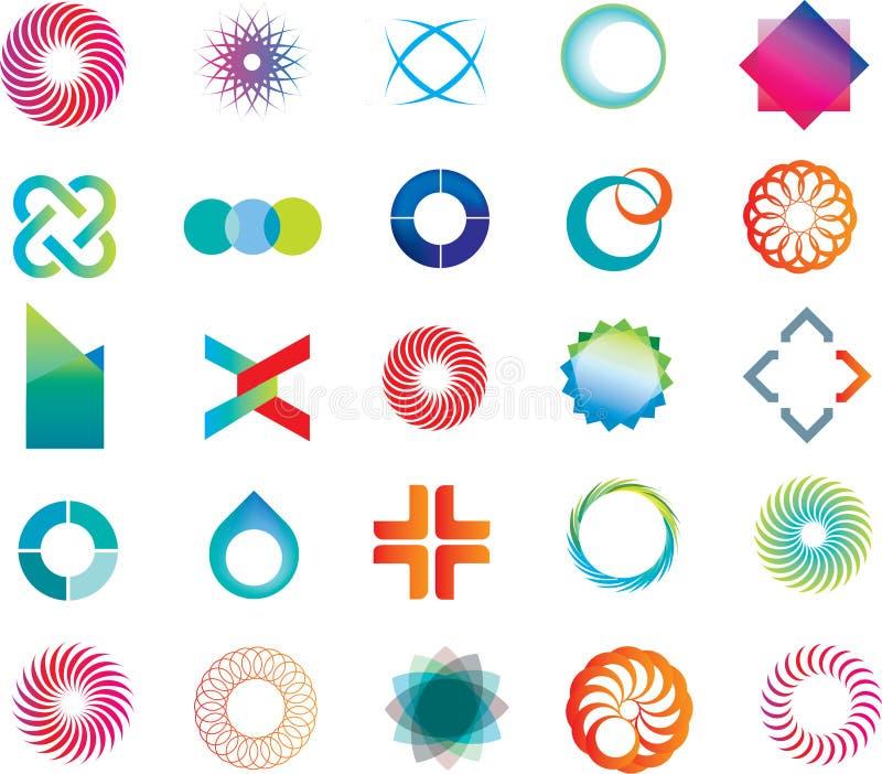 Dimensiones de una variable abstractas de la insignia stock de ilustración