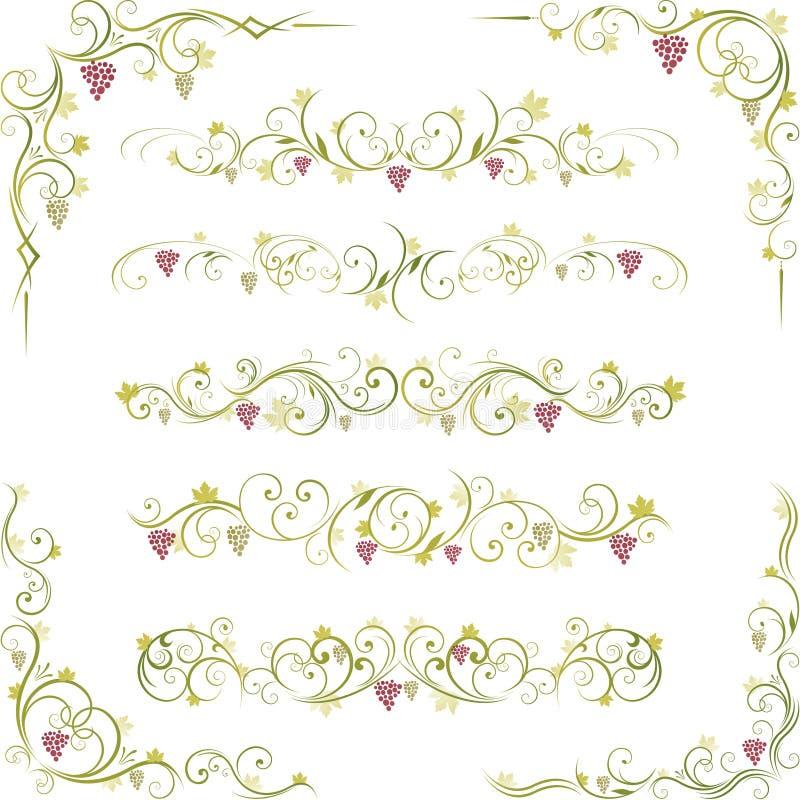 Dimensiones de una variable abstractas del desfile del vino stock de ilustración