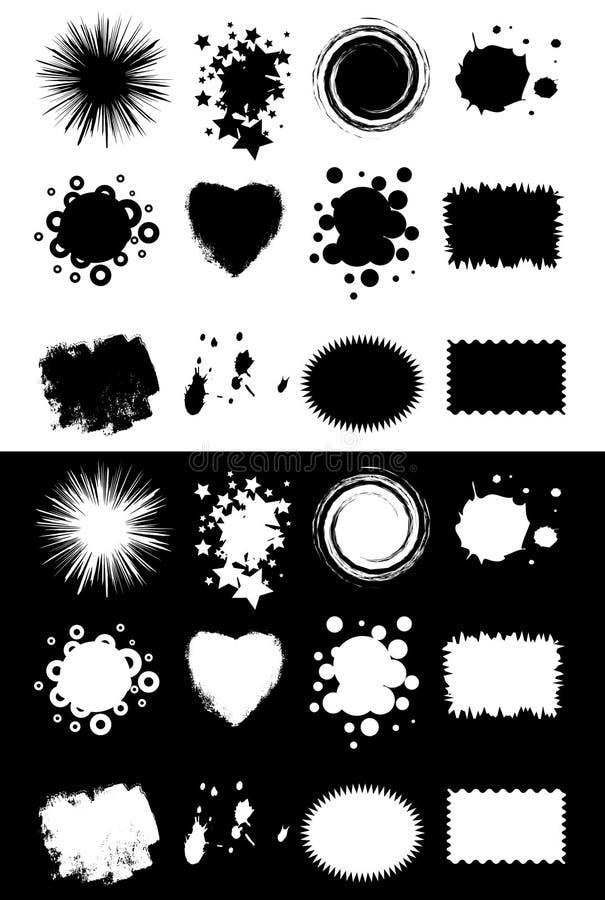 Dimensiones de una variable de la cosecha ilustración del vector