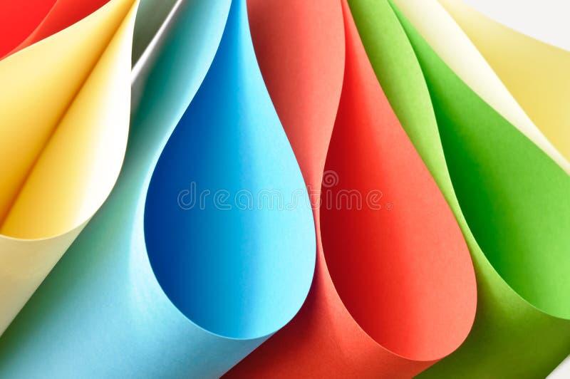 Dimensiones de una variable de papel abstractas coloridas imagen de archivo libre de regalías