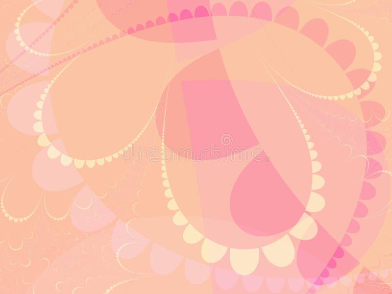 Dimensiones de una variable en colores pastel rosadas stock de ilustración