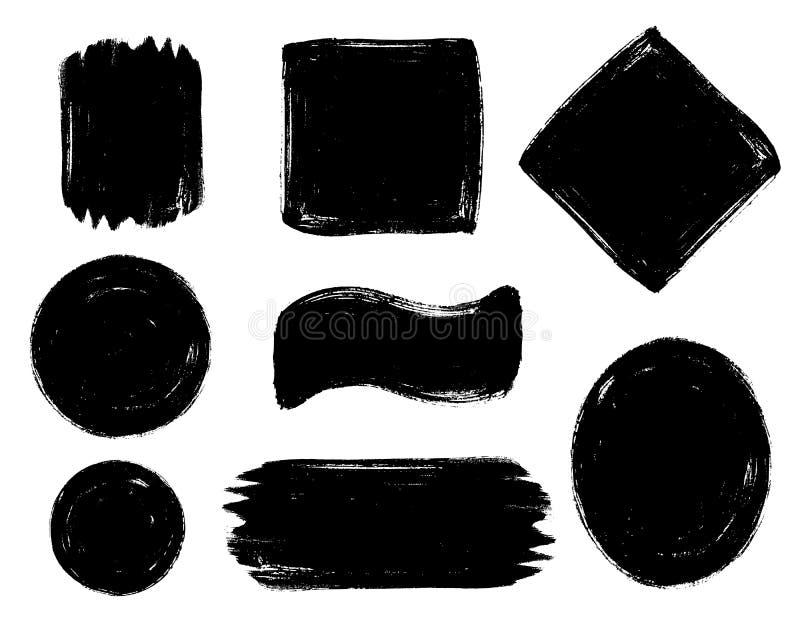 Dimensiones de una variable geométricas stock de ilustración