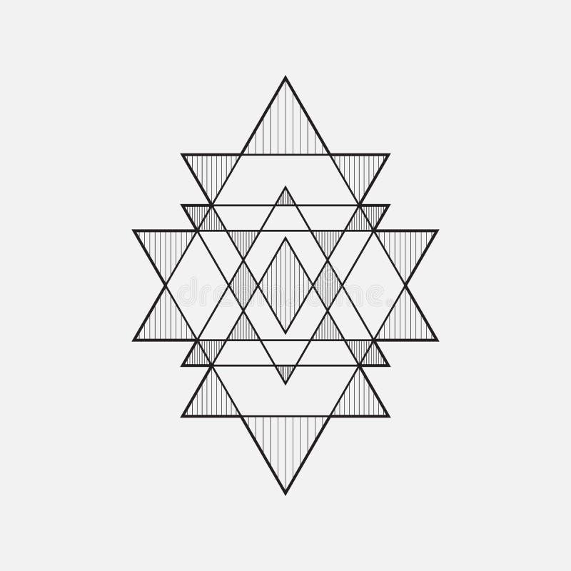 Dimensiones de una variable geométricas ilustración del vector