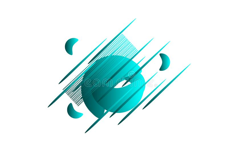Dimensiones de una variable geométricas abstractas Banderas del gradiente hidráulico aisladas en blanco Fondo flúido del vector ilustración del vector