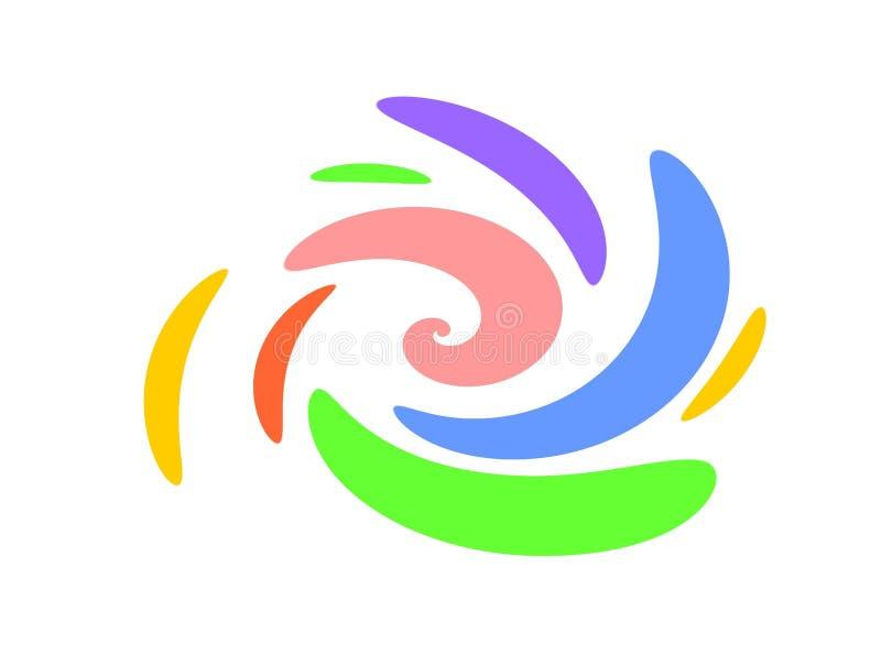 Dimensiones de una variable ovales de Swoosh de los remolinos ilustración del vector