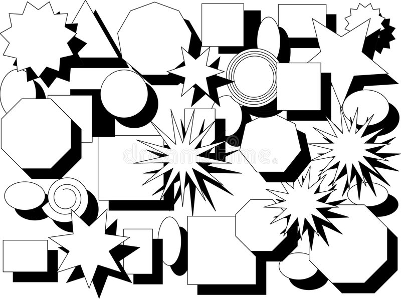 Dimensiones de una variable y sombras ilustración del vector