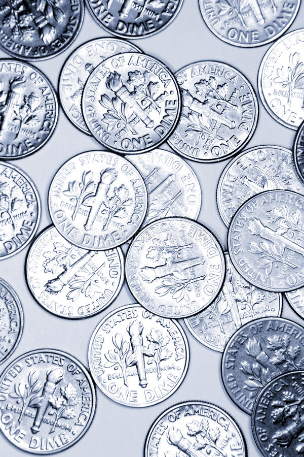 Download Dimes stock image. Image of money, coin, earnings, american - 20554077