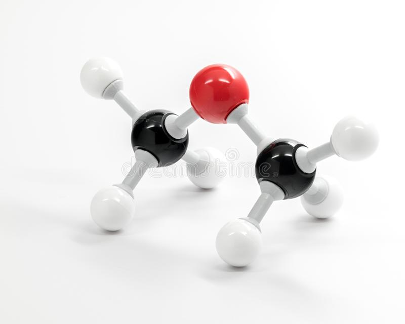 Dimethyl Ether chemistry molecule model used for teaching royalty free stock image