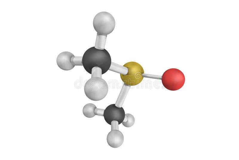 Dimethyl sulfoxide, bezbarwny ciecz i znacząco biegunowy ap, fotografia royalty free