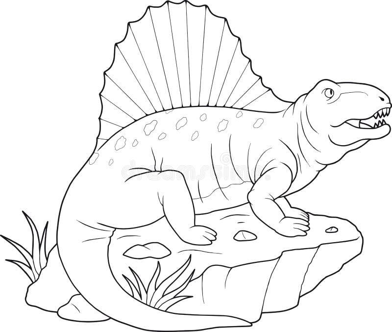 Dimetrodon stock de ilustración