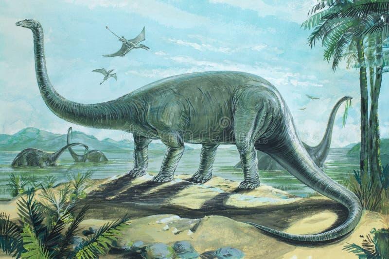 Dimetrodon ilustración del vector