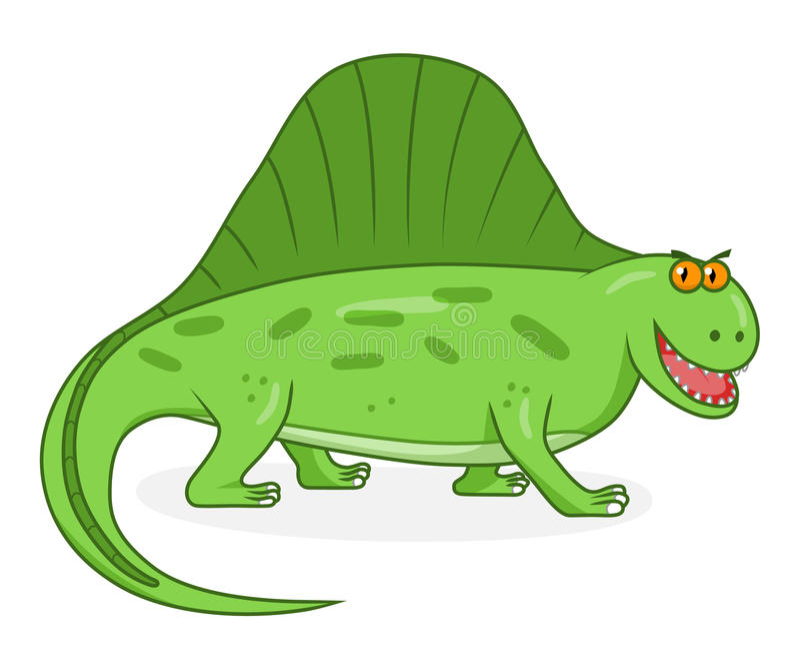 Dimetrodon del dinosaurio de la historieta ilustración del vector