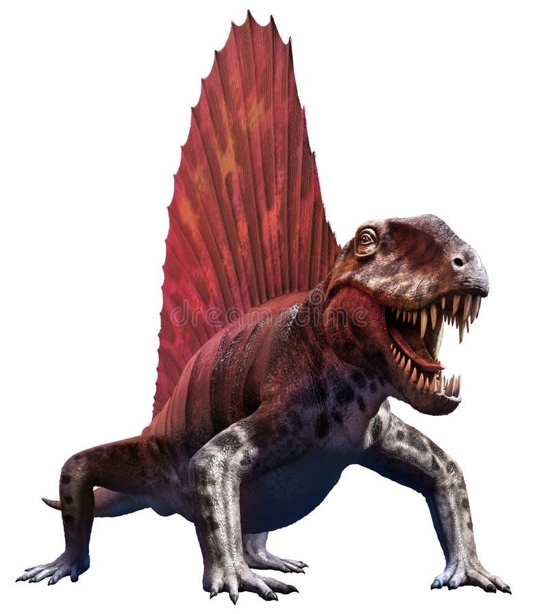 Dimetrodon. A dinosaur from the Permian era royalty free illustration