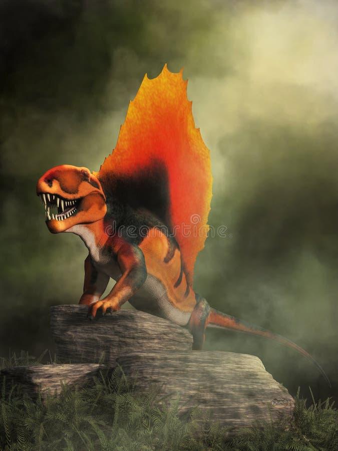 Dimetrodon ilustração royalty free