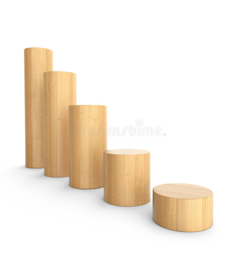 Diminua a carta de madeira do tijolo em volta de 2 ilustração stock