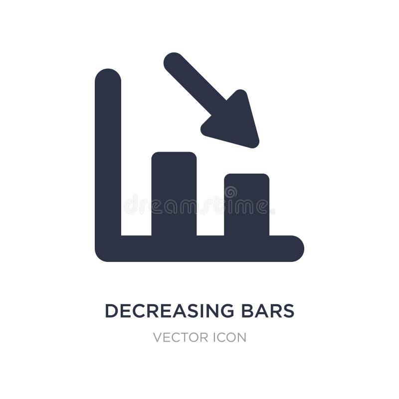 diminuenti diagramma a colonna l'icona su fondo bianco Illustrazione semplice dell'elemento dal concetto di UI illustrazione di stock