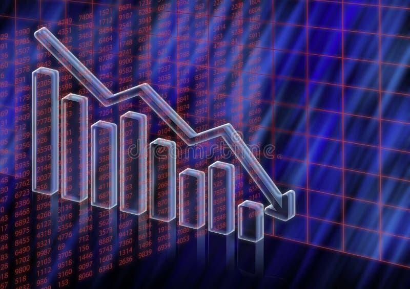 Diminuer de cours en bourse photo stock