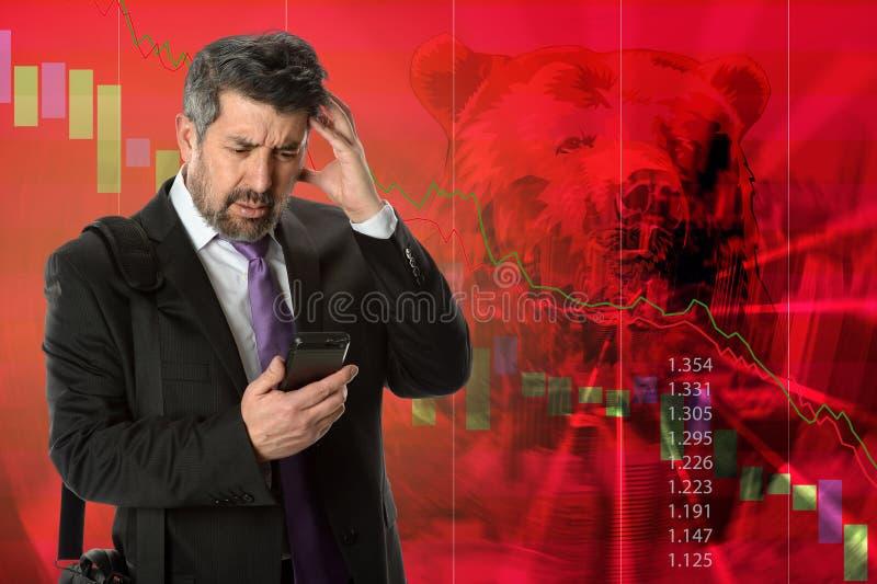 Diminuição econômica foto de stock royalty free
