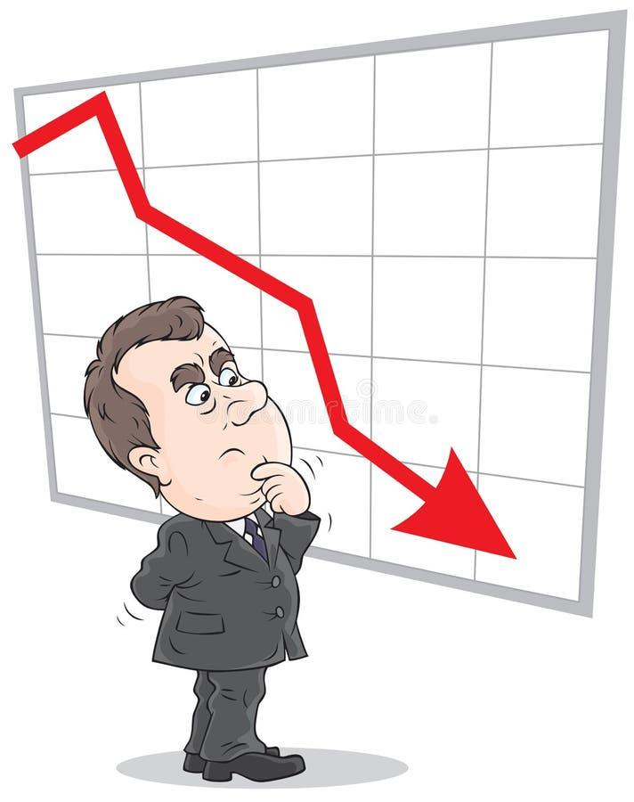Diminuição nas taxas ilustração do vetor