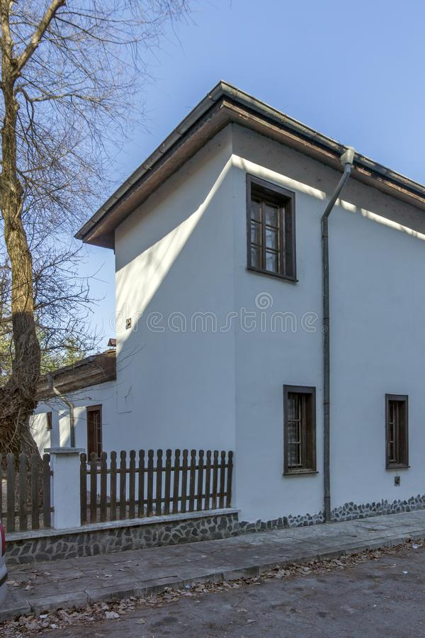 Dimitar Peshev Museum in Town of Kyustendil, Bulgaria. KYUSTENDIL, BULGARIA - JANUARY 15, 2015: Dimitar Peshev Museum in Town of Kyustendil, Bulgaria royalty free stock images