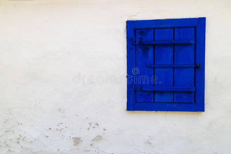 Dimitrie Gusti National Village Museum - A Blue Window royalty free stock photography