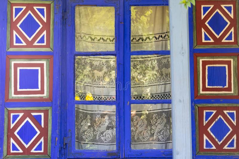 Dimitrie Gusti National Village Museum - A Decorated Window royalty free stock images